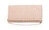Glitter Basket Weave Clutch