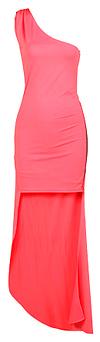 One Shoulder High-Low Maxi Dress