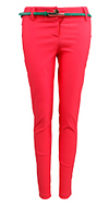 Coral Skinny Trousers