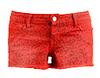 Red Cheetah Print Denim Shorts