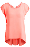 Coral Gathered Back Top
