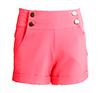 Coral High Waisted Sailor Shorts