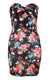 Floral Print Tube Dress