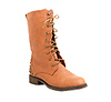 Studded Heel Combat Boots