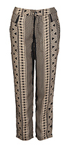 Tribal Print Cropped Slouch Pants