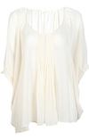 Pleated Cocoon Blouse