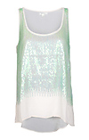 Sheer Dripping in Sequins Tank