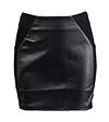 Leather Panel Mini Skirt