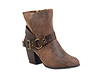 Distressed Buckle Bootie