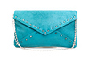 Spike Lined Envelope Clutch