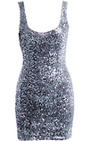 Fitted Sequin Dress