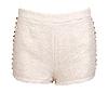 Metallic Tweed Spike Shorts
