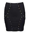 studded mini skirt