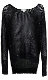 Sequin Thread Open Knit Sweater