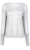 Metallic Open Knit Sweater