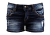 Distressed Denim Shorts Bottom