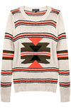 Striped Aztec Print Sweater