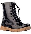High Gloss Combat Boots