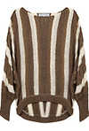Striped Loose Knit High Low Sweater